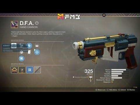 GOT IT: Chasing the New DFA Hand Cannon (Nightfall Prestige) - Fran Plays Destiny 2 Live