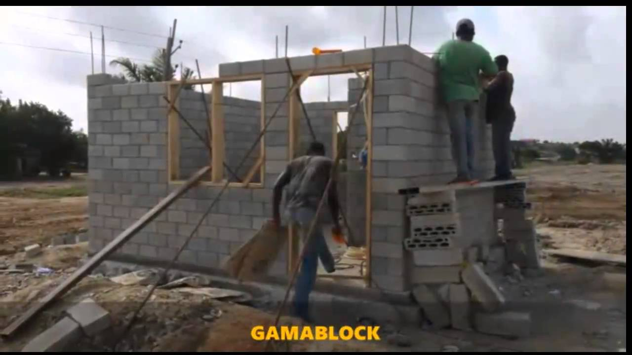 Gamablock Innovative Dry Stack Interlocking Block Youtube