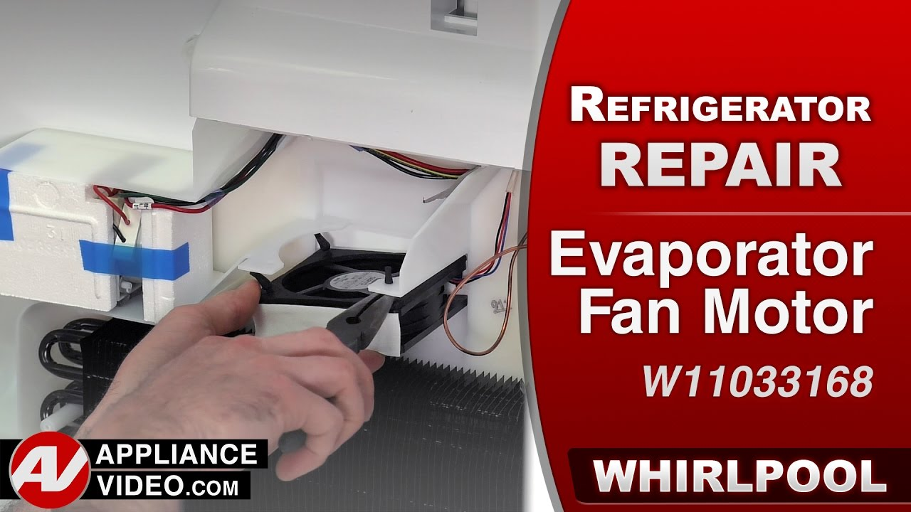 Whirlpool maytag kitchenaid refrigerator evaporator for Evaporator fan motor troubleshooting