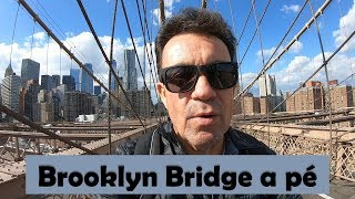 Walmart em New York e Brooklyn Bridge a pé