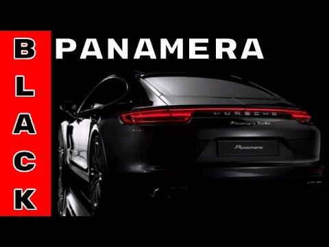 2017 New Porsche Panamera Design Black Color