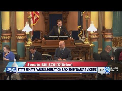 State Senate passes legislation backed by Nassar victims