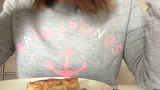 Apple Pie for breakfast ~ ASMR Relaxing Eating Sounds