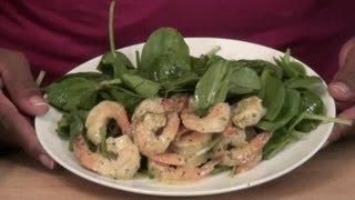 Spicy Grilled Shrimp & Spinach Salad : Shrimp Recipes