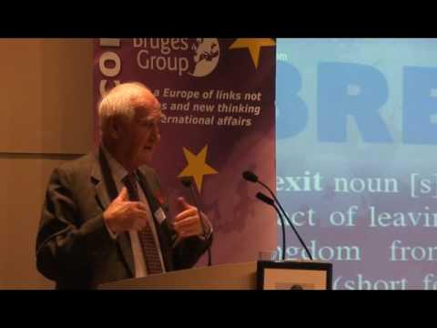 Sir John Nott at Bruges Group