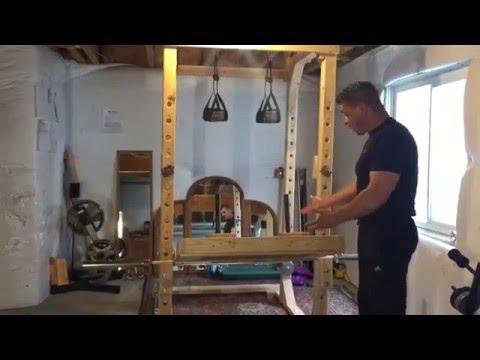 DIY Leg Press for Power Rack