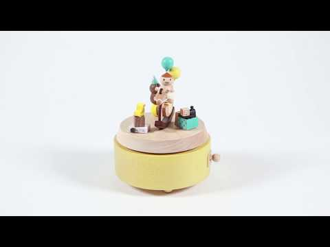 Baby Rocking Horse Wooden Music Box