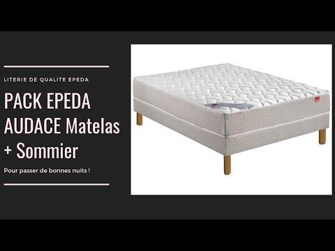 Ensemble Matelas Ressorts + Sommier Audace Du Fabriquant Français Epéda