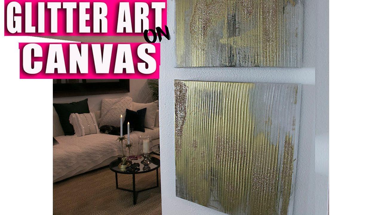 Glitter Art on Canvas - YouTube