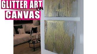 Glitter Art on Canvas