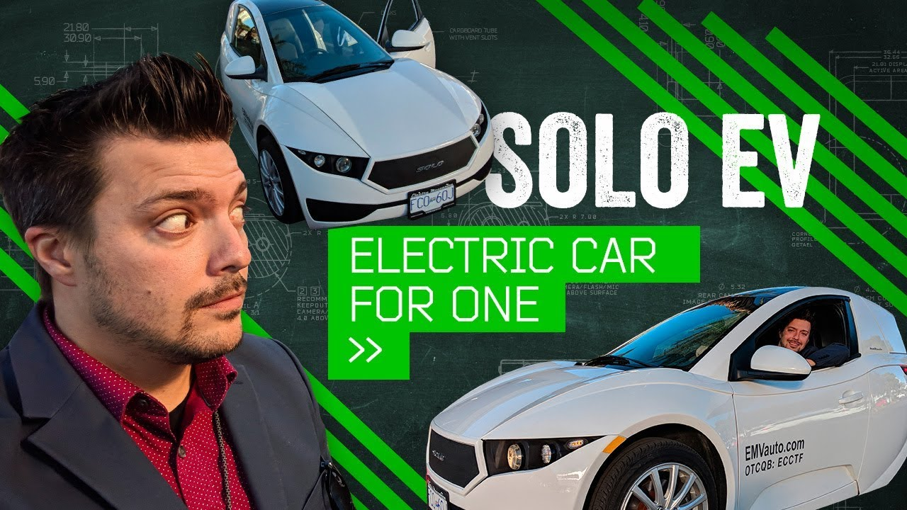 Solo Behind The Wheel Of One Person Electric Car