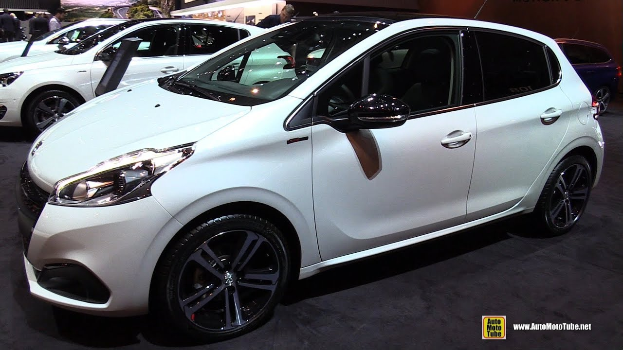 2017 peugeot 208 gt line exterior and interior walkaround 2017 geneva motor show. Black Bedroom Furniture Sets. Home Design Ideas