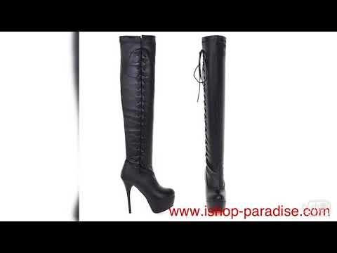 Over knee go go boots lace up long booties women's high heels sb126#