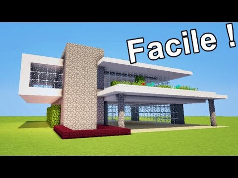 comment faire une maison moderne facilement tuto minecraft