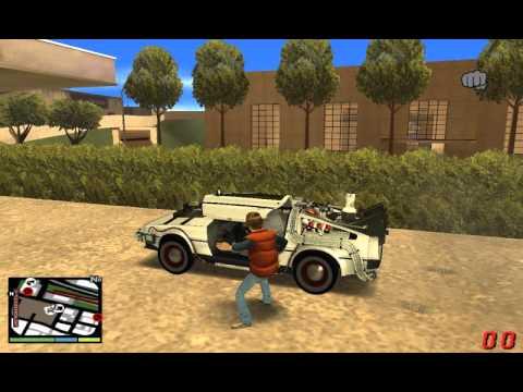 Gta SA BTTF Mod By Delorean88Mp UPDATE Gameplay
