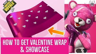 Fortnite Valentine Wrap Showcase! How To Get New Valentines Wrap For Free!