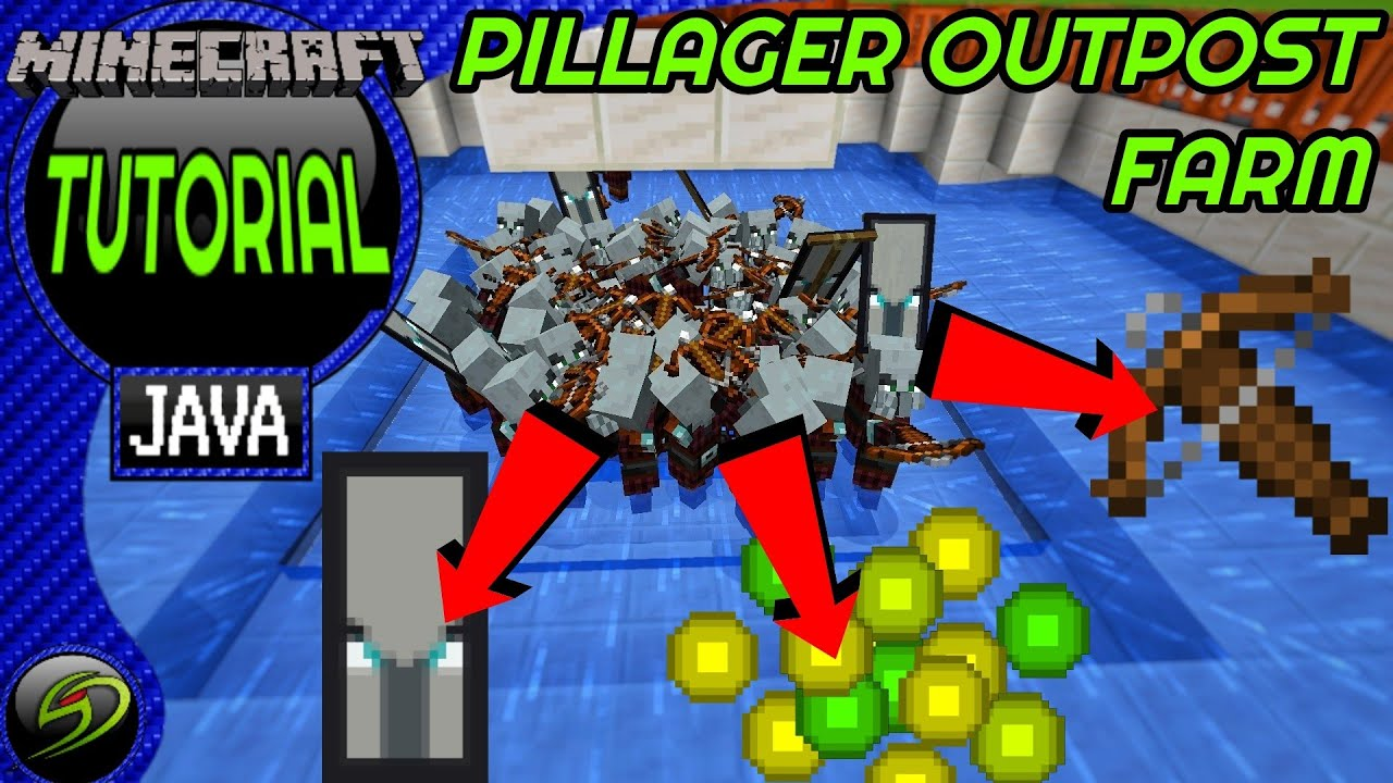How To Build A Pillager Farm Minecraft Java Edition Youtube