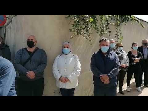 Concentración de protesta por el crimen machista en Mansilla