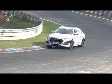 2018 Audi Q8 Coupe-SUV spied testing at the Nürburgring