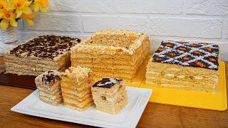 ТРИ Огромных ТОРТА за 2 часа Нежнейшие и Самые Вкусные торты из моего детства