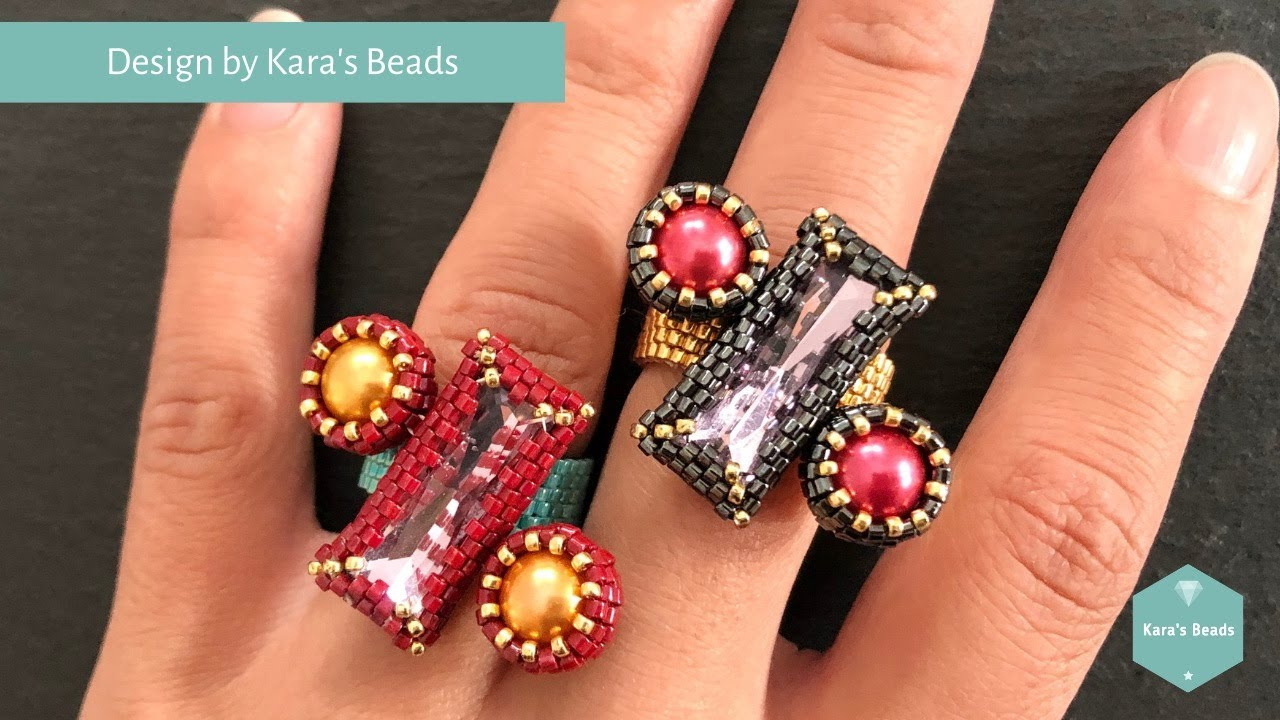 Percent Ring Tutorial | Beaded Jewelry | Baguette Bezel | DIY & Crafts | Maths Teacher Present Gift