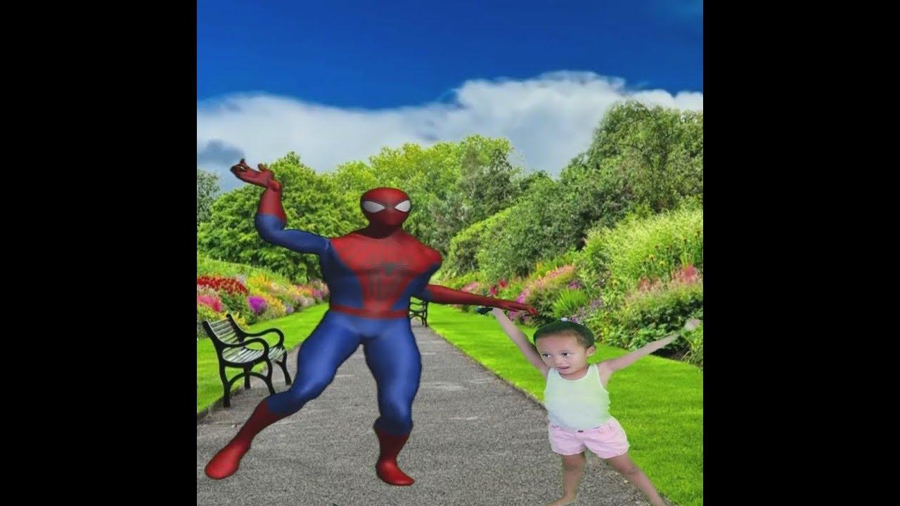 Spiderman Dancing to Thriller |4 yr old| Jordyn