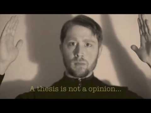 What Is a Thesis? (a.k.a. La Thèse)