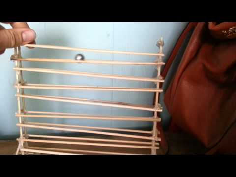 Simple marble machine made from bamboo skewers