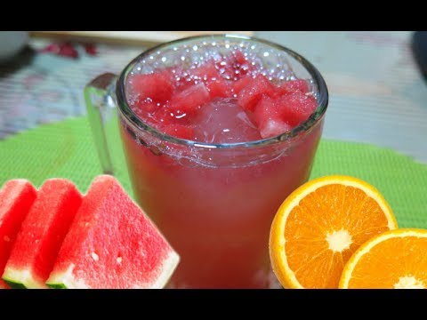 How To Make Watermelon & Orange Juice | Pinoy Easy Recipes