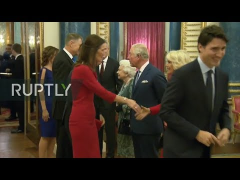 REFEED: Queen Elizabeth II hosts reception for NATO leaders in London