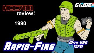 HCC788 - 1990 RAPID-FIRE - Fast Attack  Expert & VHS Tape - Vintage G.i. Joe toy!