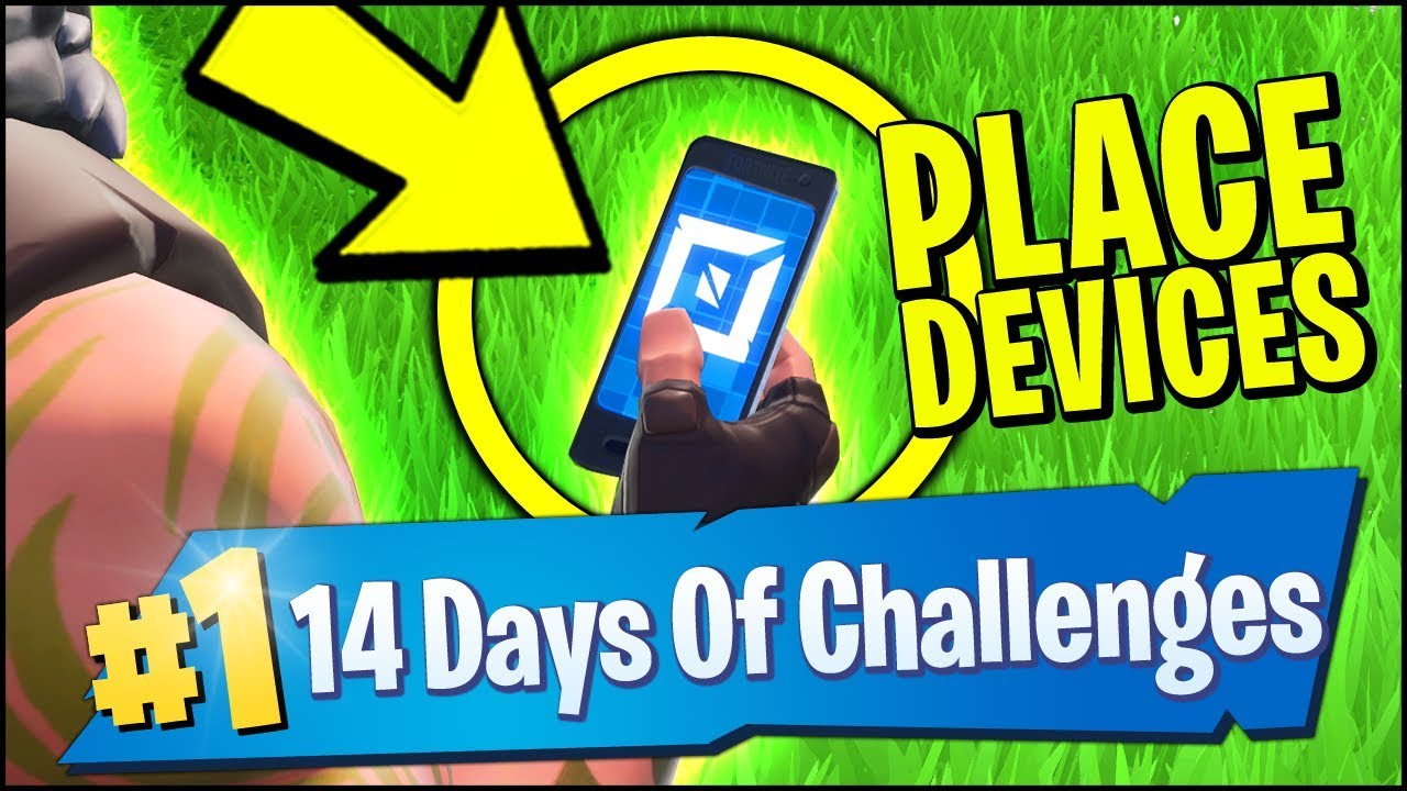 Place Devices On A Creative Island Challenge Fortnite 14 Days Of