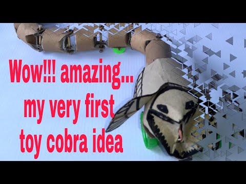 WOW!!! amazing DIY toy cobra snake(aluminum foil tube & tissue paper tube hack)