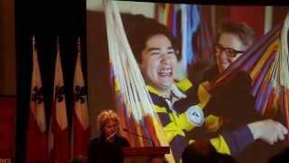 Brigitte Harrisson lors du lancement du numéro spécial de Québec Science sur l'autisme