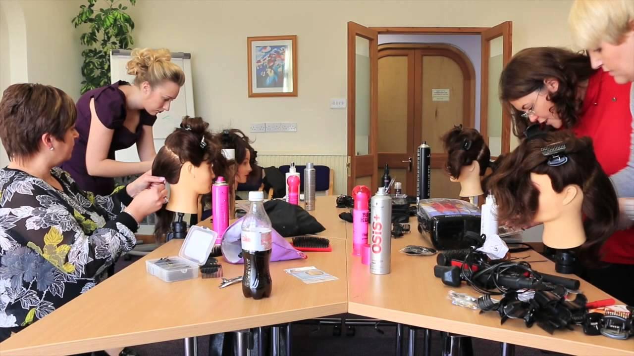 bridal hair training course - youtube