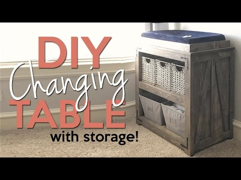 DIY Changing Table with Storage | Shanty2Chic
