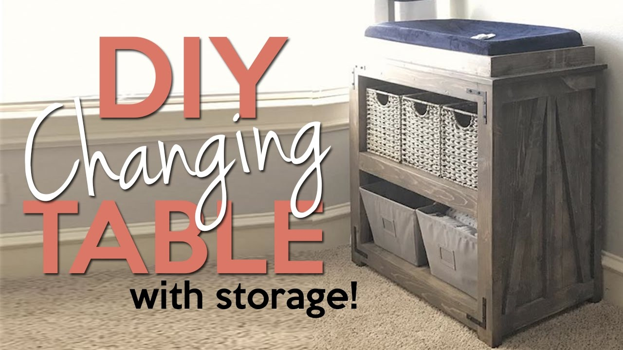 Diy Changing Table With Storage Shanty2chic Youtube