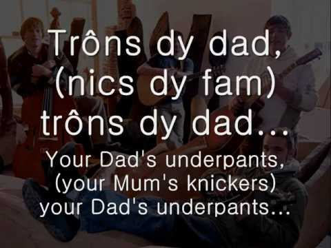 Trons dy Dad - Gwibdaith Hen Frân (geiriau / lyrics)