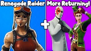 5 RARE SKINS RETURNING SOON in Fortnite! (Renegade Raider + More Returning!)
