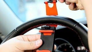 Автомобильный держатель для IPhone с креплением на руль Lada Granta(Один из самых удобных держателей, которые у меня были. Держатели на AliExpress - http://ali.pub/zj9x0 Ссылка на продавца:..., 2014-12-17T19:49:45.000Z)