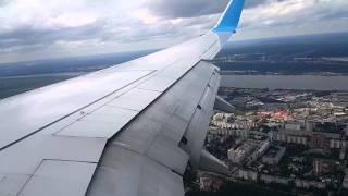 Посадка в Перми Boeing 737-800 Победа