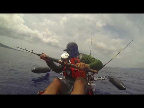Maui kayak fishing 4/21/17
