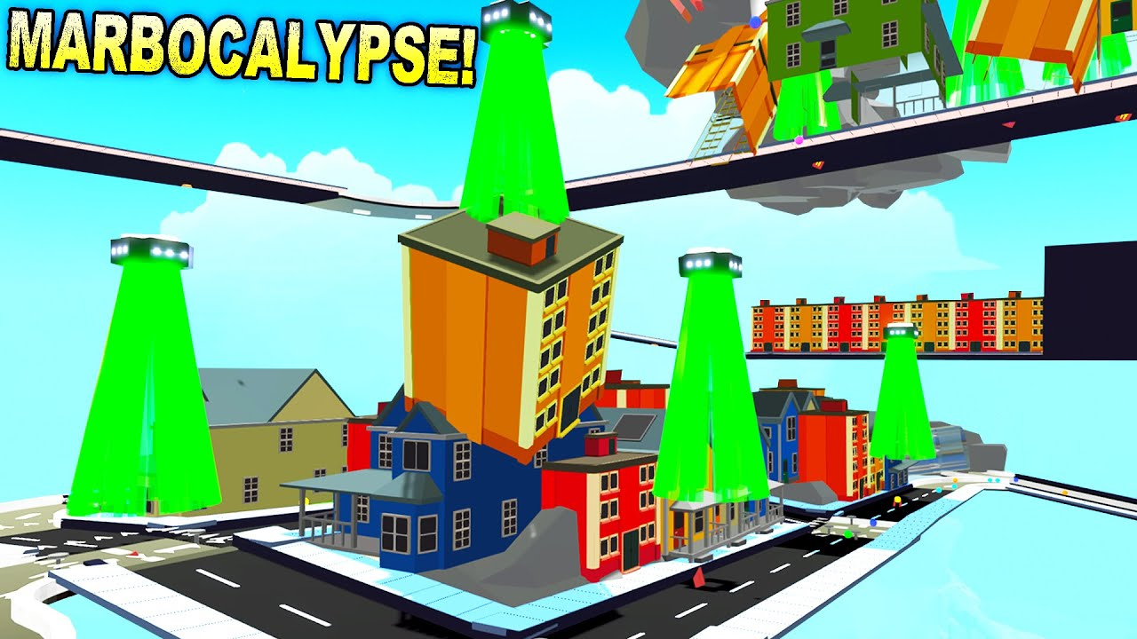 Insanely Detailed Apocalyptic Marble Run and More! - Marble World Gameplay