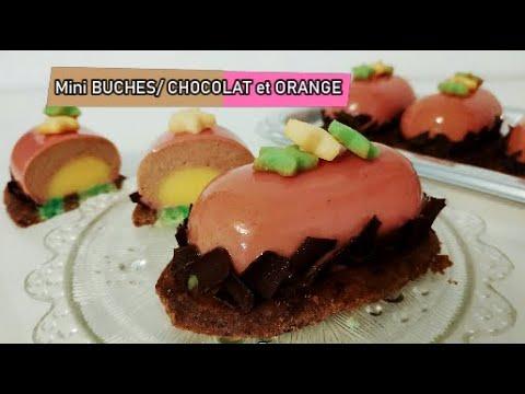recette-mini-bûches-de-noël,-chocolat-insert-crèmeux-à-l'orange-(-sans-moule-à-insert)