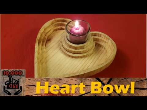 Heart Shaped bowl with candle holder DIY  :Valentine's day gift idea  
