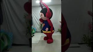 Adult Funny Inflatable Butterfly Mascot Costume Fur Mascots Advertising Deguisement Mascotte