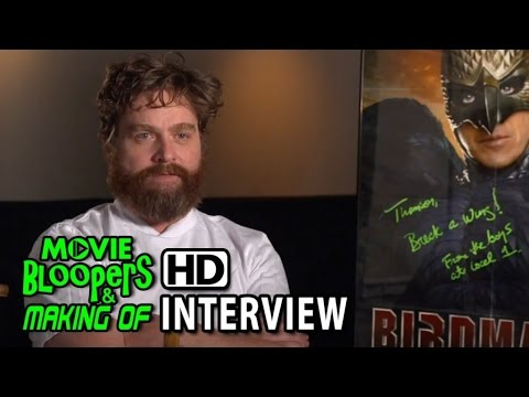 Birdman (2014) Zach Galifianakis (Jake) Interview