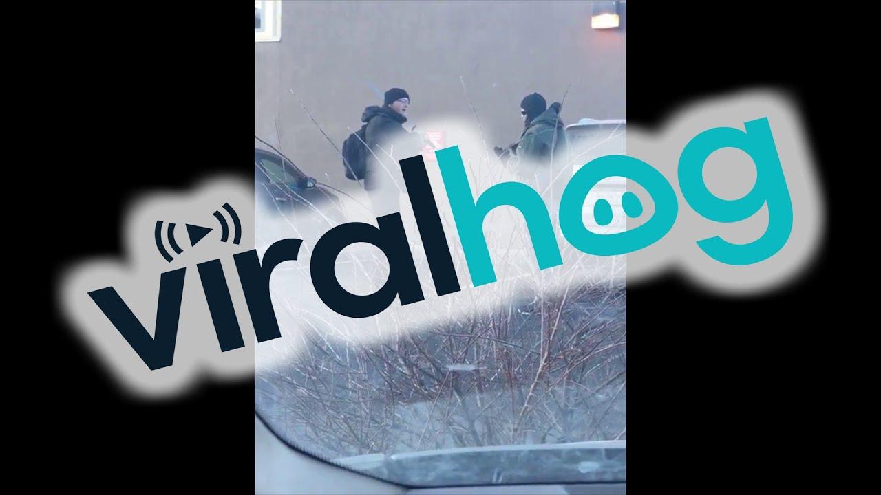 Sword Confrontation Near a Bank || ViralHog - YouTube