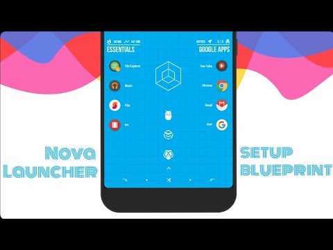 Nova Launcher Setup : Blueprint Theme
