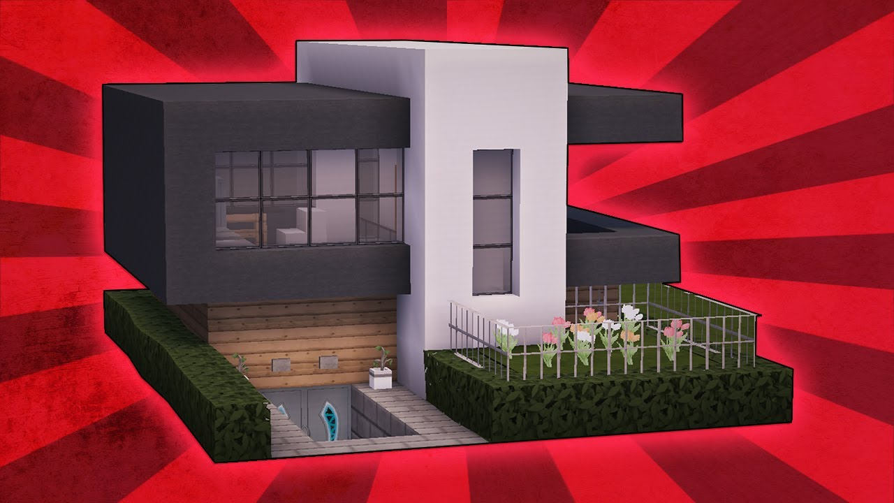 Minecraft how to build a small modern house tutorial 21 for How to build a small home